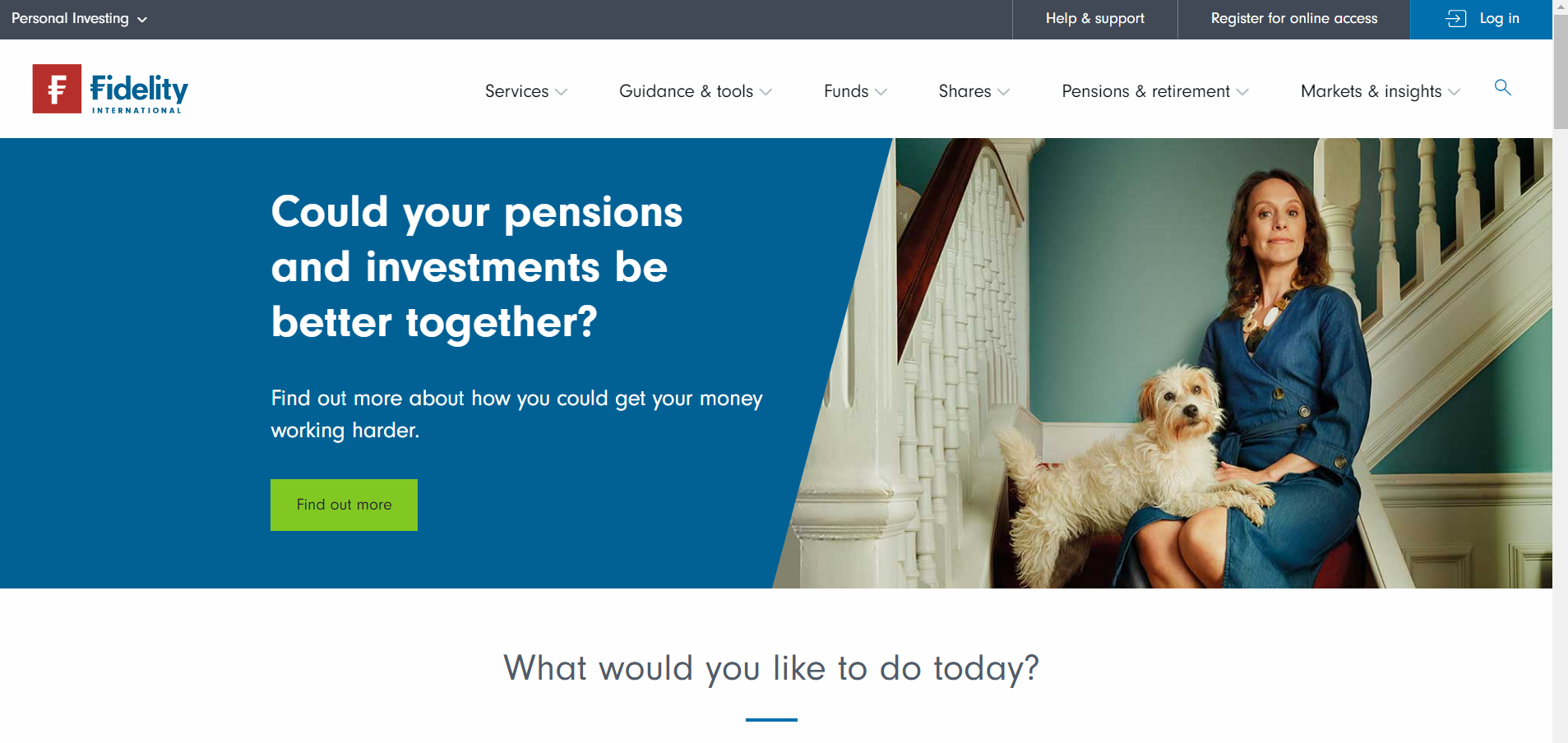 This is the Website of Fidelity