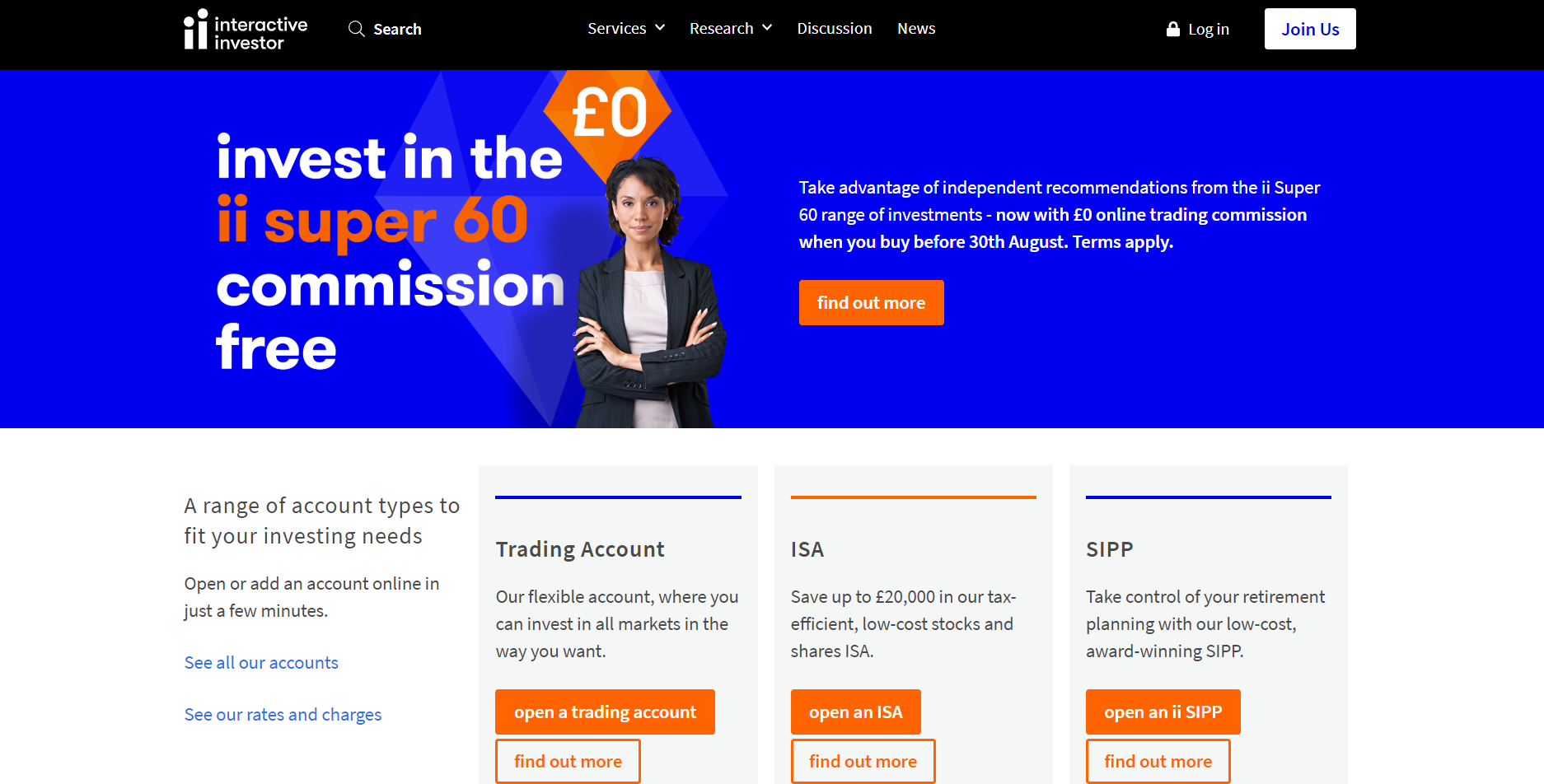 This is the website of interactive investors