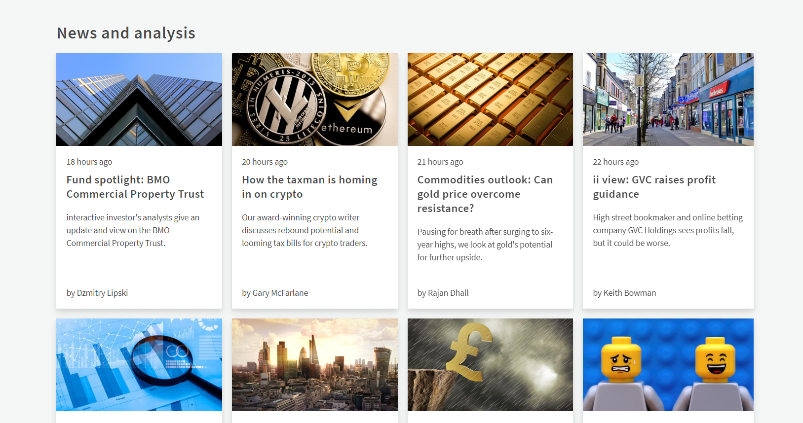 Try the News and analysis of interactive investors!