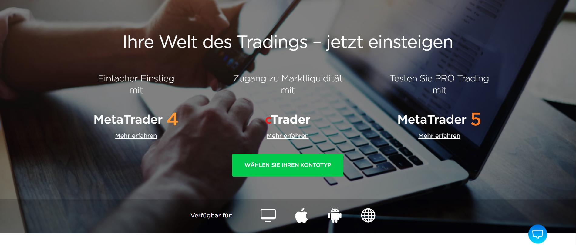 Entdecken Sie die Handelsplattformen von OctaFX
