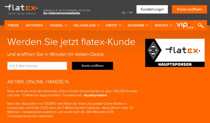 flatex website