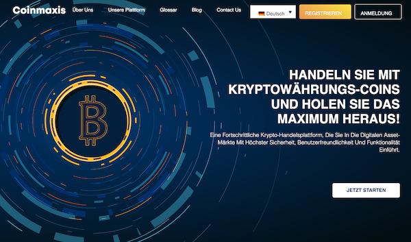 Coinmaxis Webseite