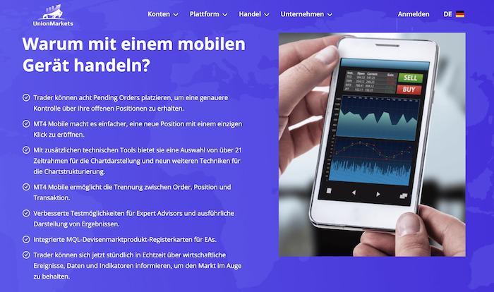 UnionMarkets Mobile